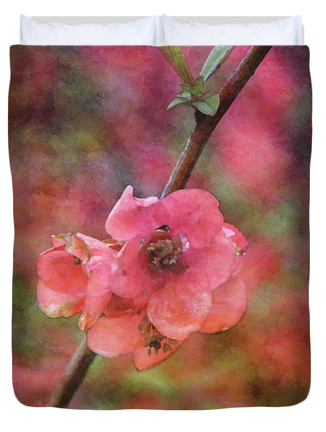 Impressionist Duvet Cover featuring the photograph Spring Blossoms 9129 Idp_2 by Steven Ward
