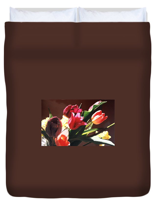 Floral Still Life Duvet Cover featuring the photograph Spring Bouquet by Steve Karol