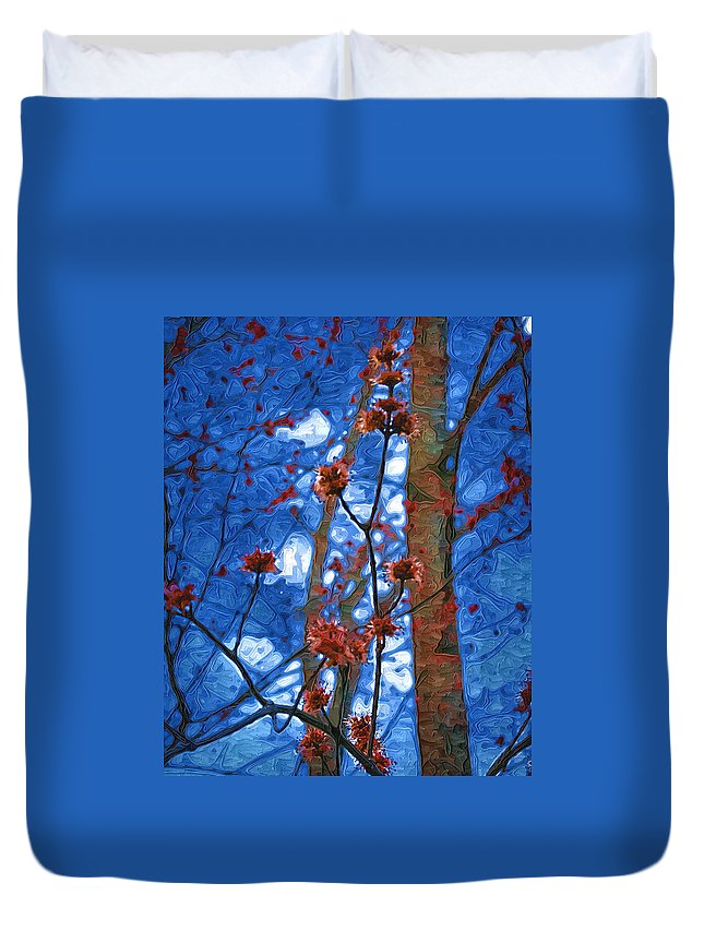 Spring Duvet Cover featuring the photograph Spring Buds by Tom Reynen