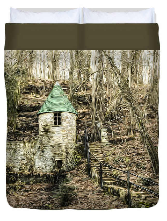 Spring Duvet Cover featuring the photograph Spring Castle - Rock Island Park Tn Art 585 by Thomas Whetten