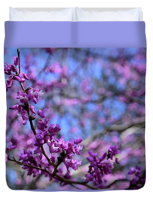 Ann Duvet Cover featuring the photograph Spring Color Pop by Ann Keisling