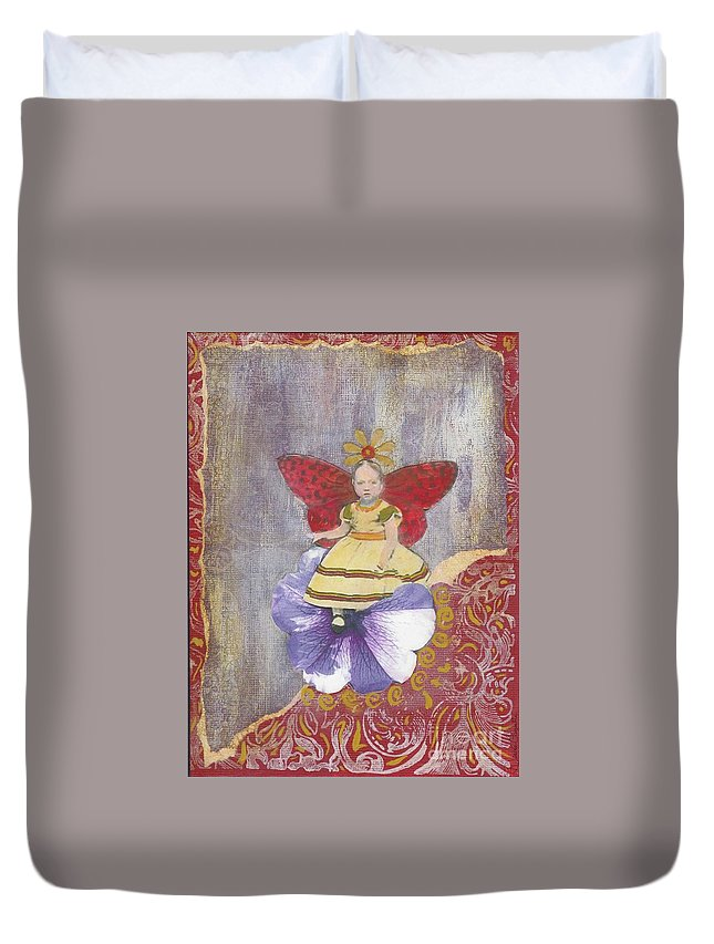 Spring Duvet Cover featuring the mixed media Spring by Desiree Paquette