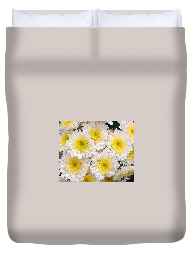 Floral Duvet Cover featuring the photograph Spring Fever by Kathy Bucari