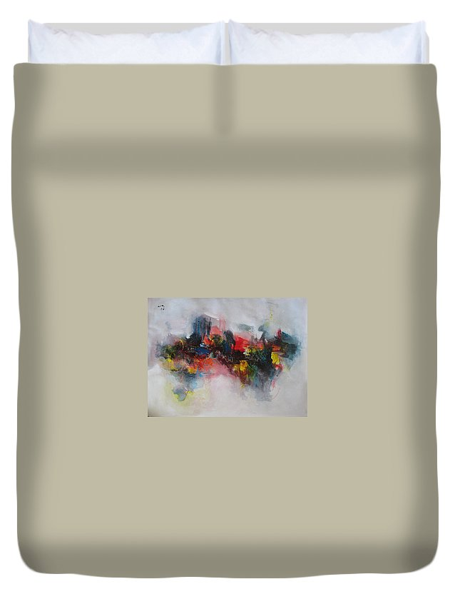 Painting Duvet Cover featuring the painting Spring Fever51 by Seon-Jeong Kim