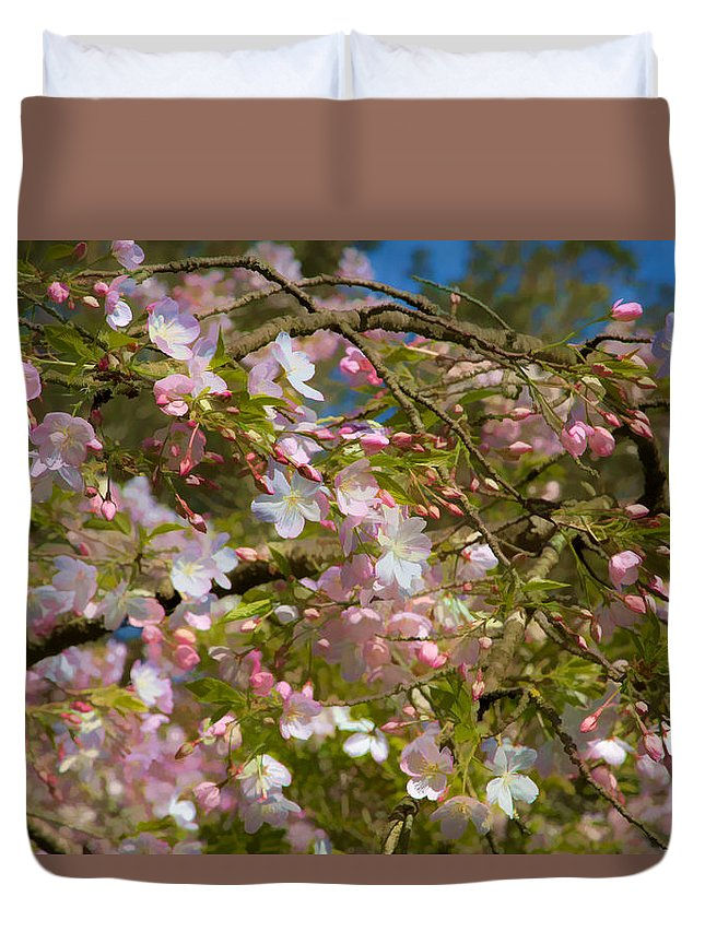 Spring Fling Duvet Cover featuring the photograph Spring Fling by Bonnie Follett