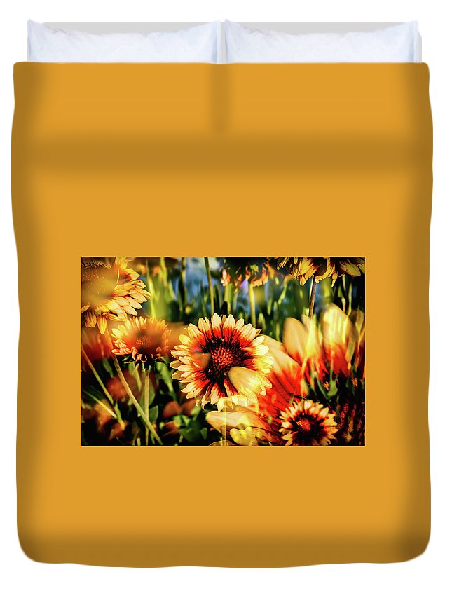 Gaillardia Duvet Cover featuring the photograph Spring Fling by Kristen Wilcox