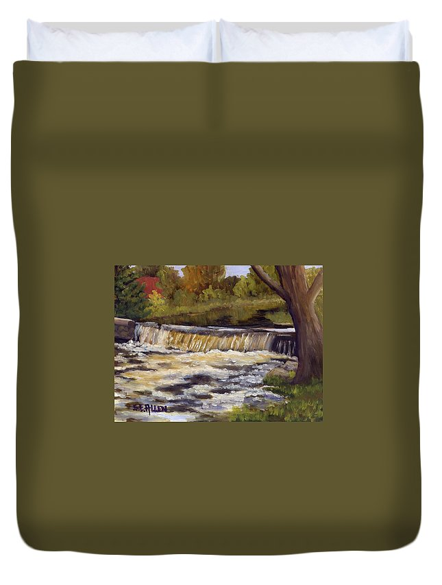 Water Duvet Cover featuring the painting Spring Flow by Sharon E Allen