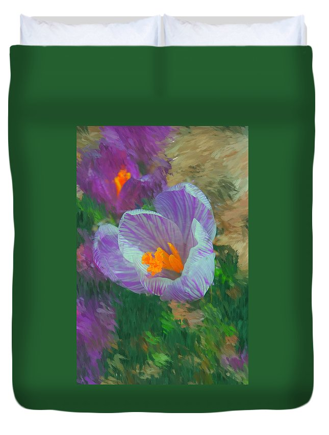 Digital Photography Duvet Cover featuring the digital art Spring Has Sprung by David Lane