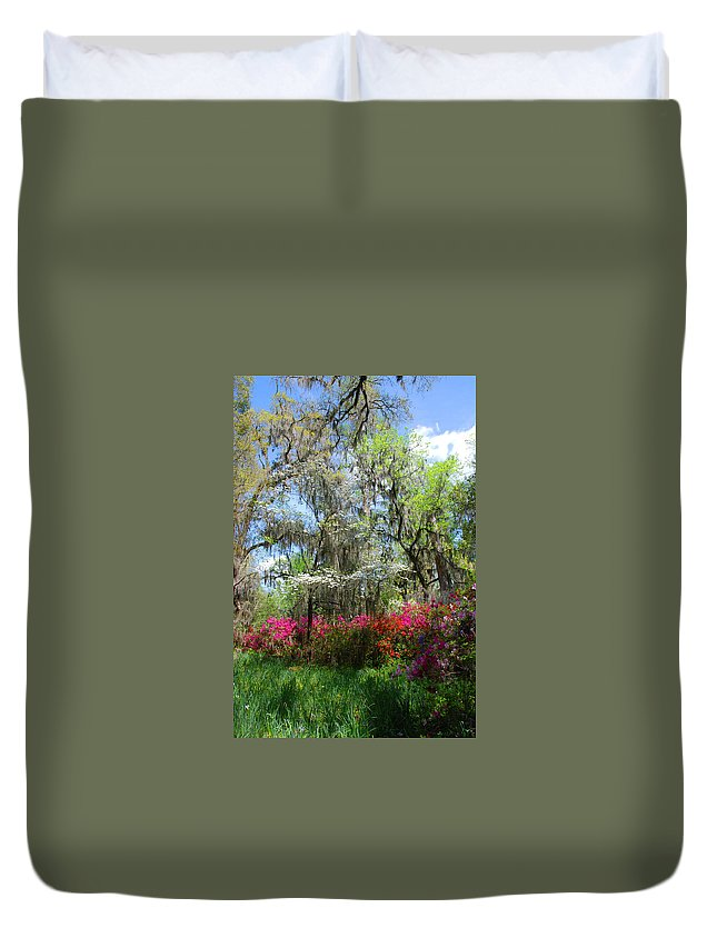 Spring Flowers Duvet Cover featuring the photograph Spring Is All Over by Susanne Van Hulst