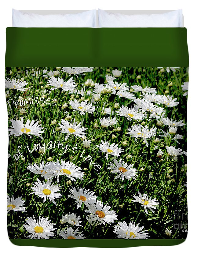 Daisies Duvet Cover featuring the photograph Spring Loyal Love Daisies by Dale E Jackson
