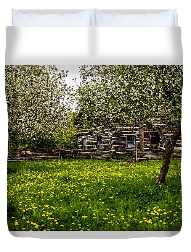 Spring Meadow Duvet Cover featuring the photograph Spring Meadow by M G Whittingham