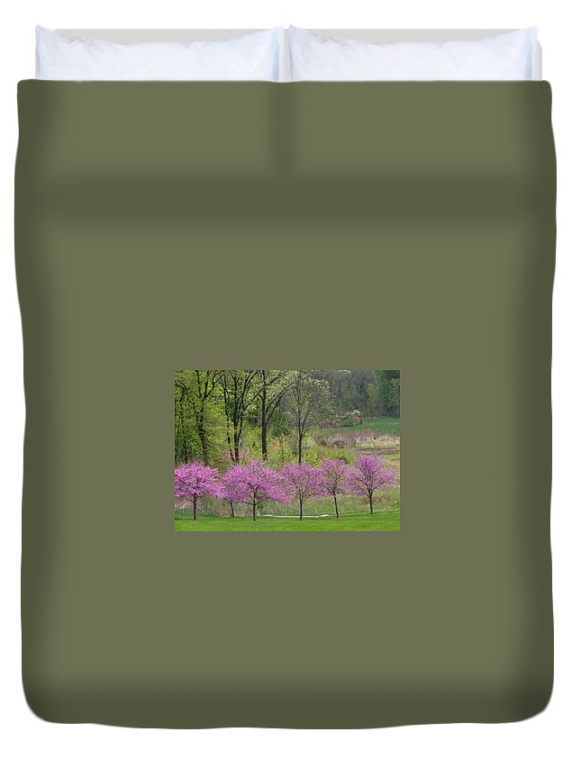 Spring Duvet Cover featuring the photograph Spring Melody by Living Color Photography Lorraine Lynch