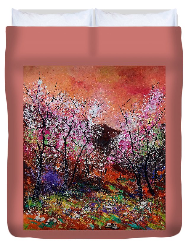 Spring Duvet Cover featuring the painting Spring Near My Home by Pol Ledent