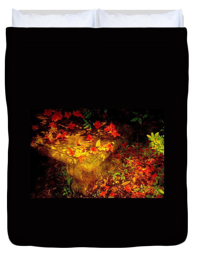 Flower Duvet Cover featuring the photograph Spring Or Autumn by Susanne Van Hulst