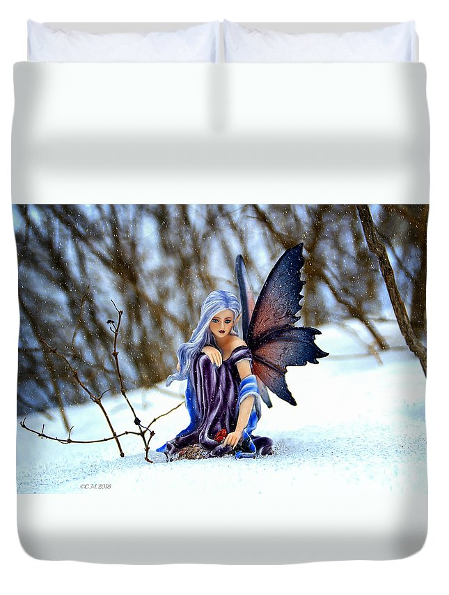 Fairy Duvet Cover featuring the photograph Spring Promises by Catherine Melvin