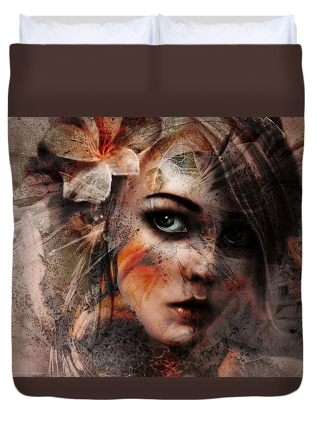 Spring By Rifas Duvet Cover featuring the painting Spring by Safir Rifas