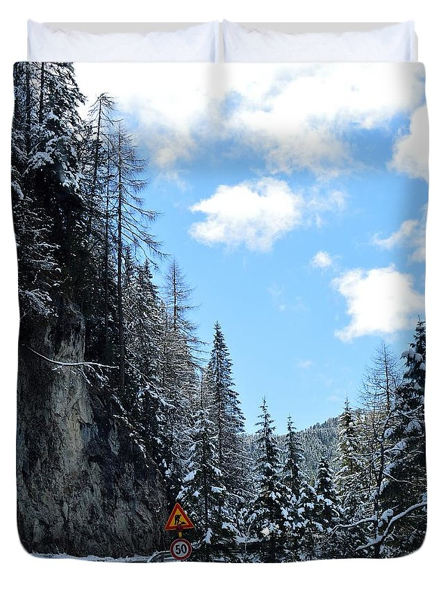 Photograph Duvet Cover featuring the photograph Spring Snow by Monica Engeler