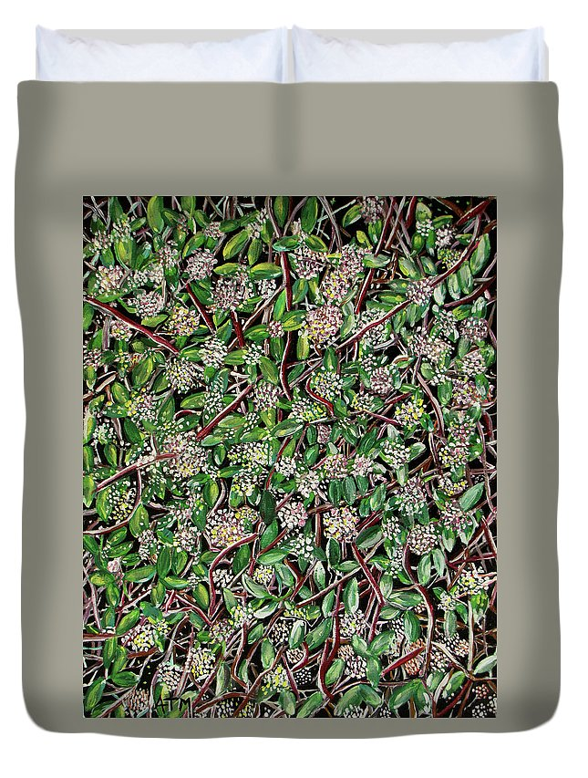 Still Life Duvet Cover featuring the painting Spring Time In New England by Allison Mathews