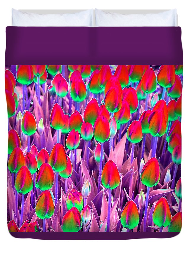Tulip Duvet Cover featuring the photograph Spring Tulips - Photopower 3112 by Pamela Critchlow