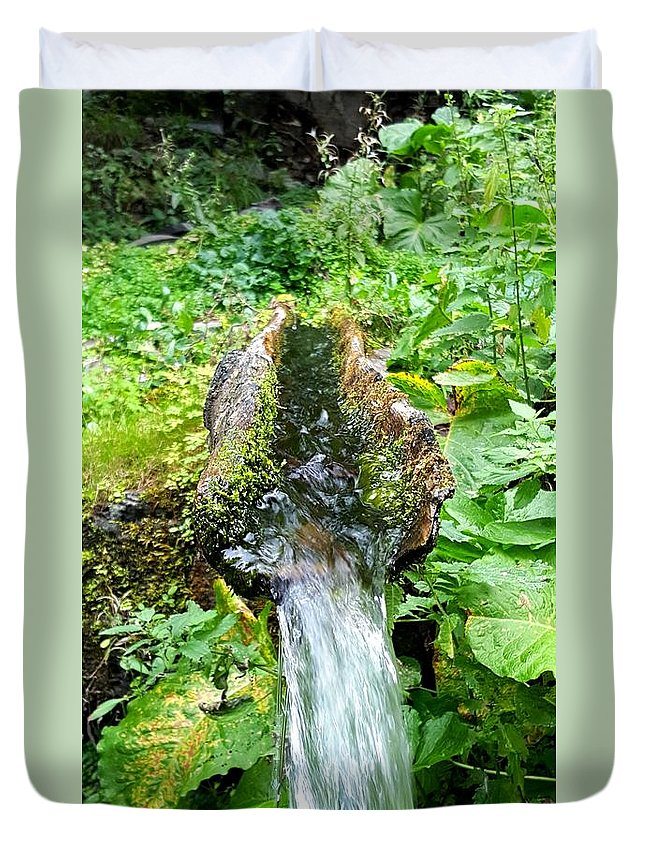 Photography Duvet Cover featuring the photograph Spring Water by Leyla Gurlek