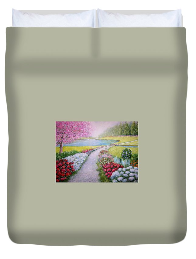 Landscape Duvet Cover featuring the painting Spring by William H RaVell III