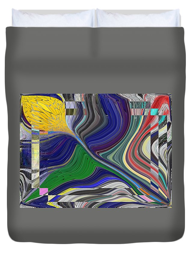 Abstract Duvet Cover featuring the digital art Springtime Delight by Tim Allen
