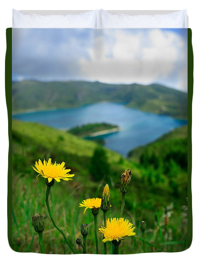 Caldera Duvet Cover featuring the photograph Springtime In Fogo Crater by Gaspar Avila