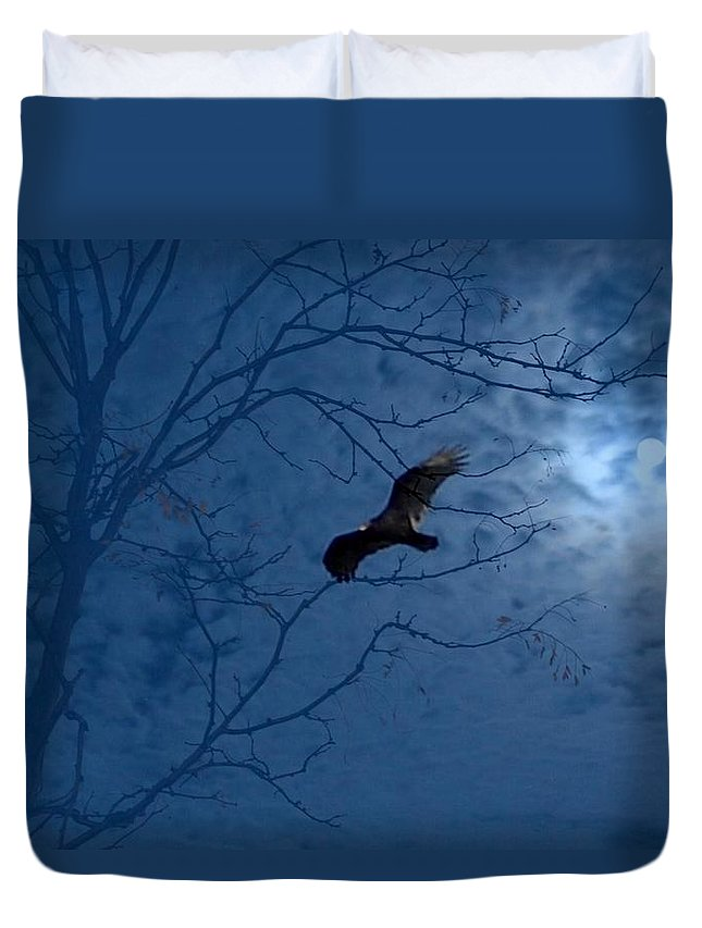 Duvet Cover featuring the photograph Sprit In The Sky by Luciana Seymour
