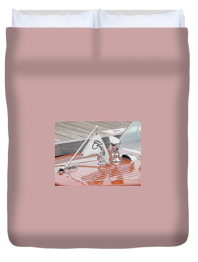 Motor Boat Duvet Cover featuring the photograph Square Bow Resorter by Neil Zimmerman