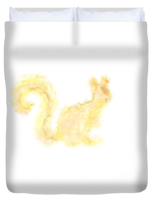 Squirrel Duvet Cover featuring the photograph Squirrel by Tabitha Fox