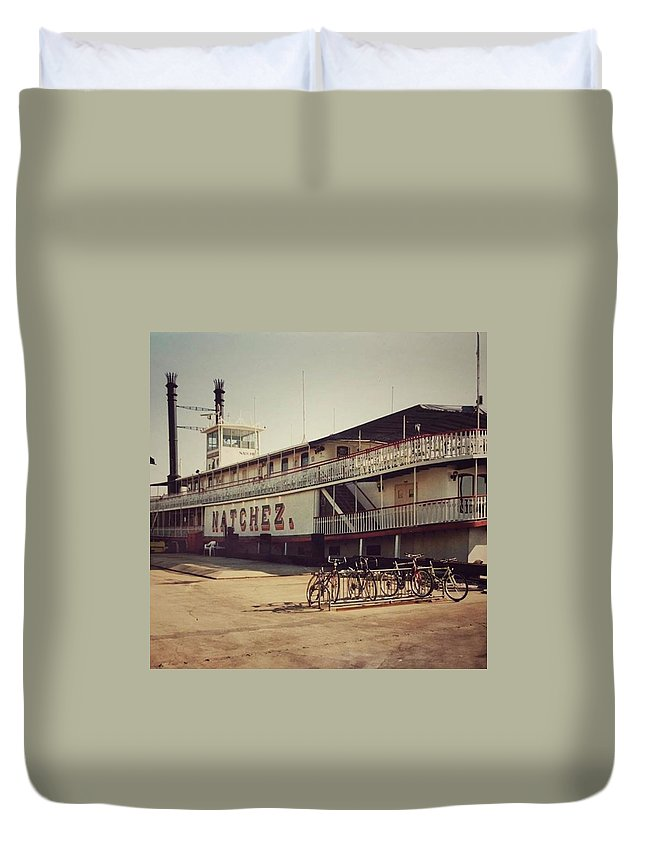 Duvet Cover featuring the photograph Ss Natchez, New Orleans, October 1993 by John Edwards