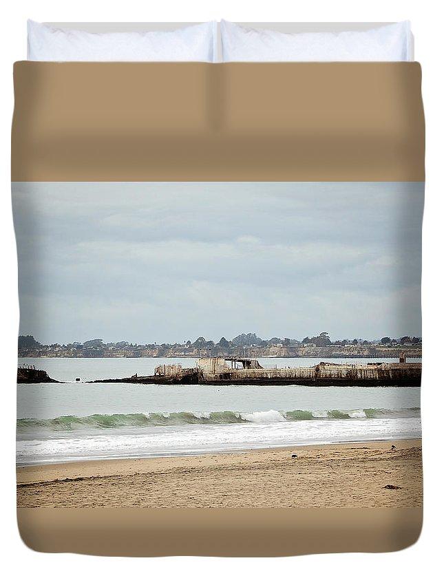 Ship Duvet Cover featuring the photograph S.s. Palo Alto by Deana Glenz