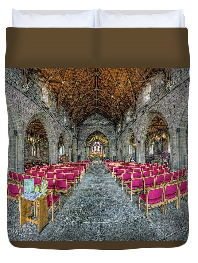 Cathedral Duvet Cover featuring the photograph St Asaph Cathedral by Ian Mitchell