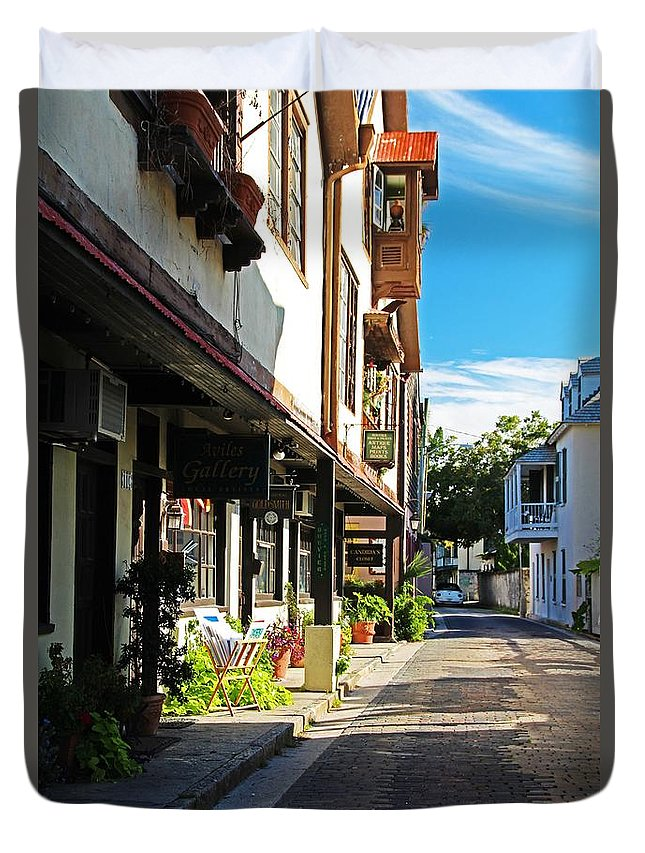 St Augustine Duvet Cover featuring the photograph St Augustine I by Michiale Schneider