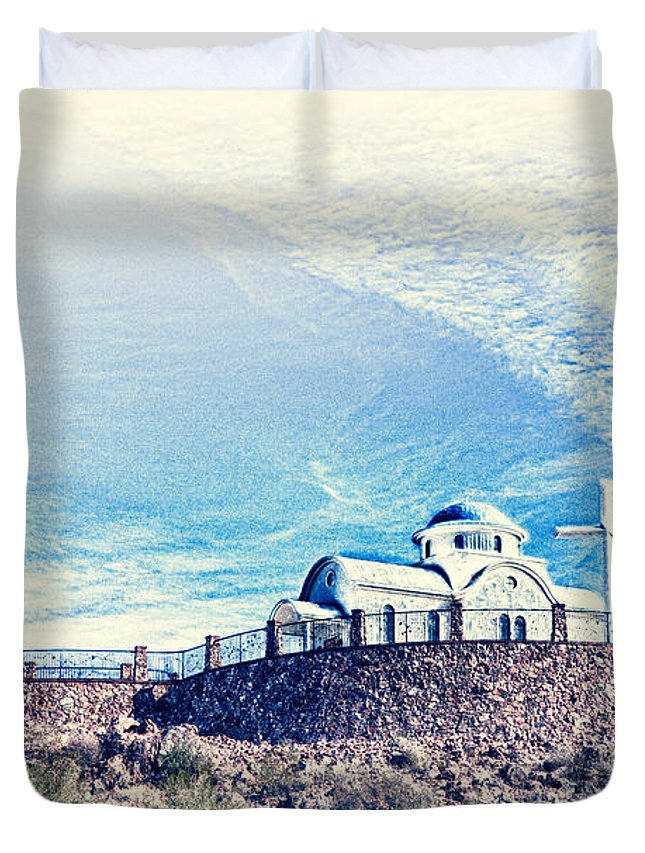 Florence Duvet Cover featuring the photograph St. Elijah Chapel IIi by Matt Suess