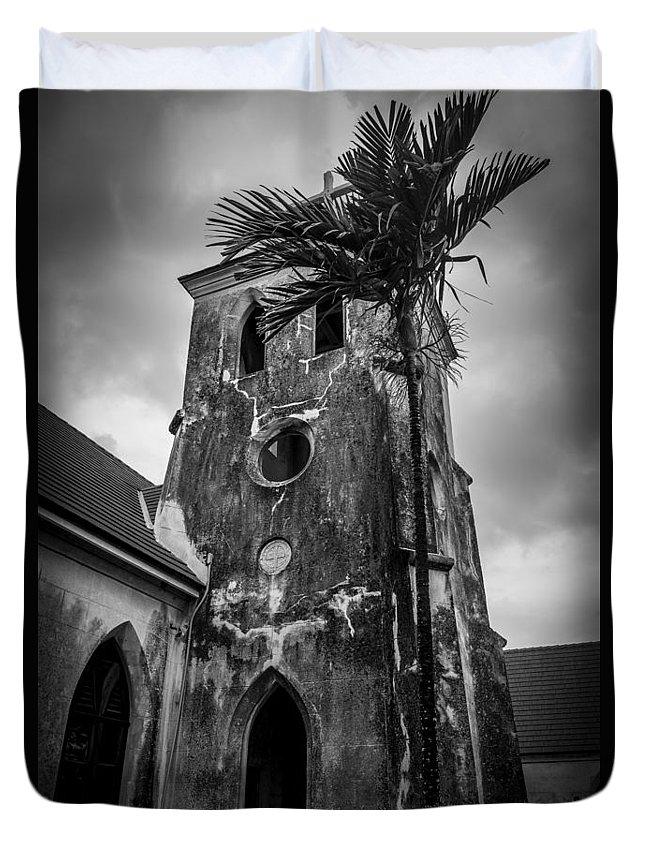Saint Duvet Cover featuring the photograph St. Francis Xavier's - 2 by Vincent Asbjornsen