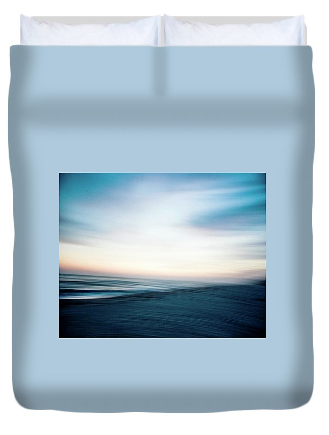Fine Art Duvet Cover featuring the photograph St. George Island by Hilary Phillips