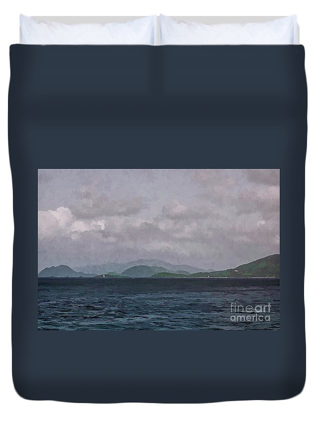 St Thomas Duvet Cover featuring the photograph St John Island by Stefan H Unger