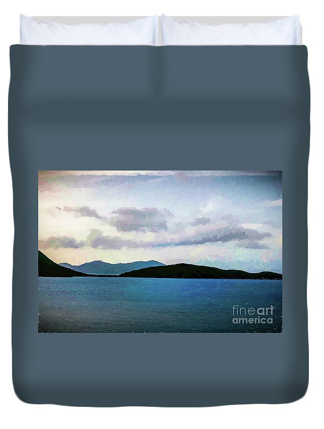 St John Duvet Cover featuring the photograph St John - Ocean Vista by Stefan H Unger