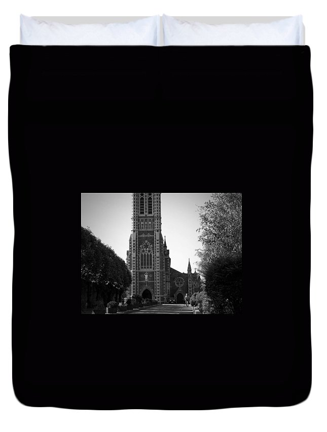 Irish Duvet Cover featuring the photograph St. John's Church Tralee Ireland by Teresa Mucha