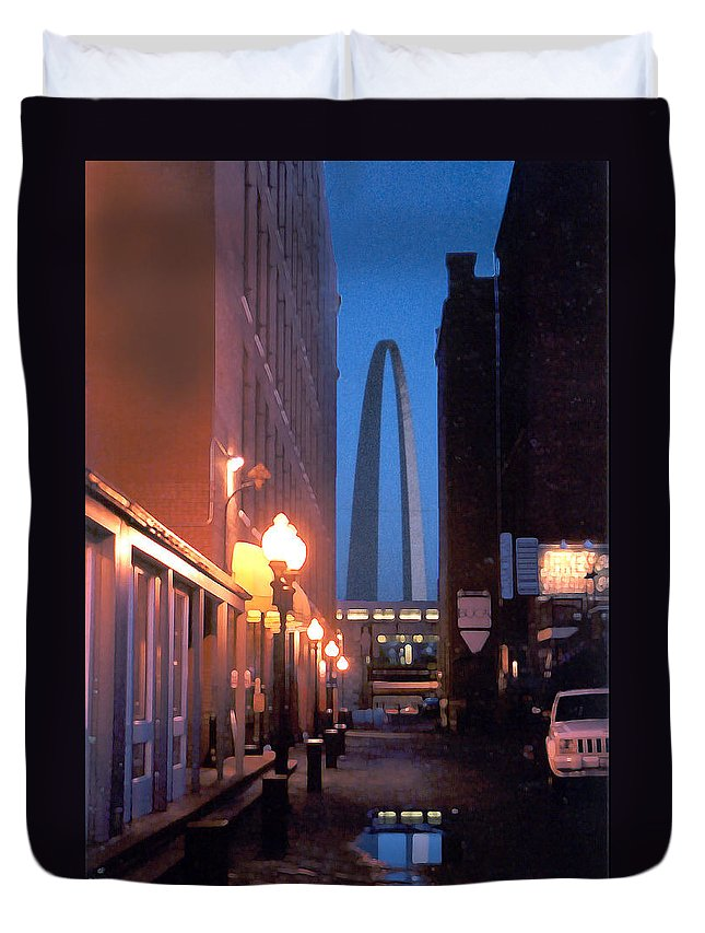 St. Louis Duvet Cover featuring the photograph St. Louis Arch by Steve Karol