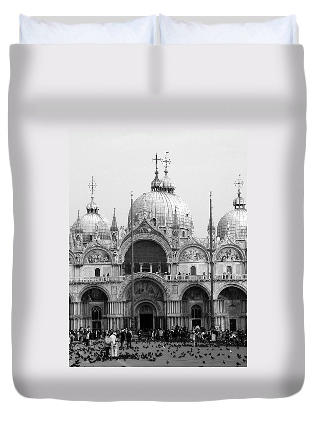 St. Marks Duvet Cover featuring the photograph St. Marks by Donna Corless