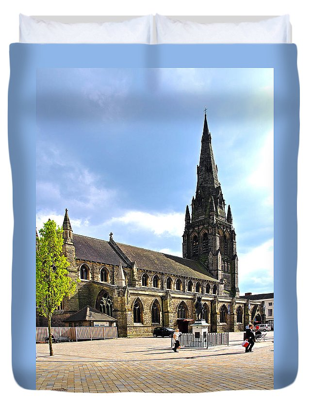 James Boswell Duvet Cover featuring the photograph St Mary's Church At Lichfield by Rod Johnson