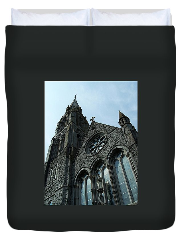 Ireland Duvet Cover featuring the photograph St. Mary's Of The Rosary Catholic Church by Teresa Mucha