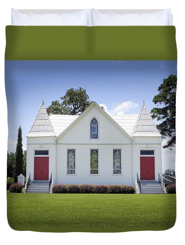 St. Matthews Lutheran Church Duvet Cover featuring the photograph St. Matthews Lutheran Church 2 by Rob Thompson