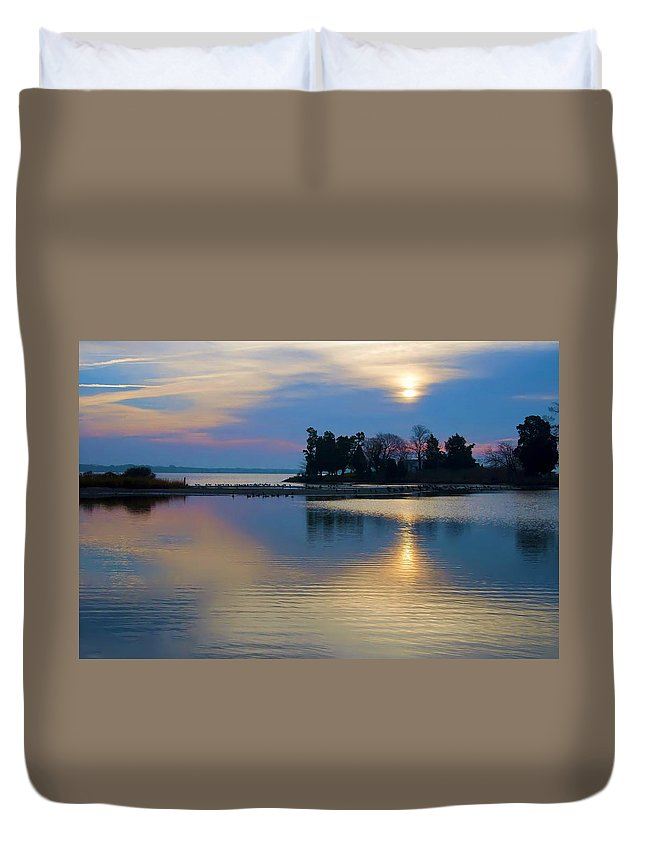 St Michaels Duvet Cover featuring the photograph St. Michael's Sunrise by Bill Cannon