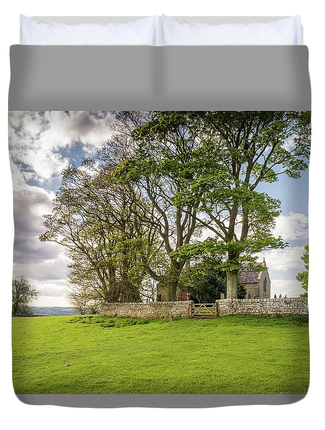 Northumberland Duvet Cover featuring the photograph St Oswald's Church Heavenfield by David Head