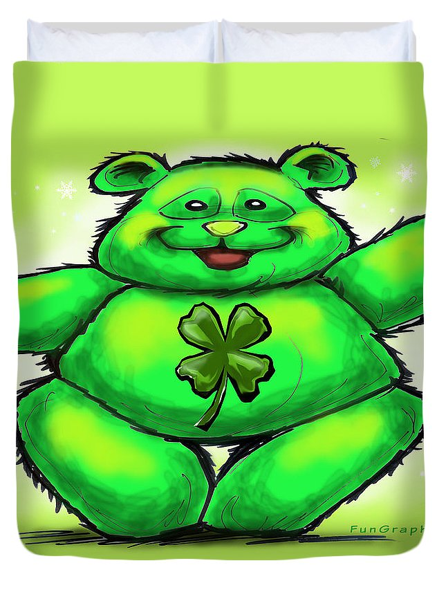 St. Patrick Duvet Cover featuring the painting St. Patrick by Kevin Middleton