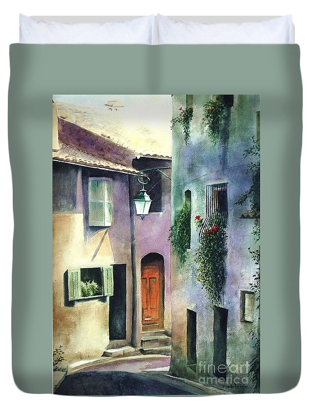 Provence Duvet Cover featuring the painting St. Paul De Vence by Madeleine Holzberg