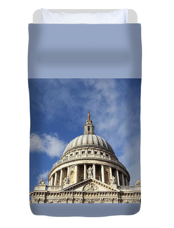 Pauls Duvet Cover featuring the photograph St Pauls Cathedral London England Uk by Peter Barritt